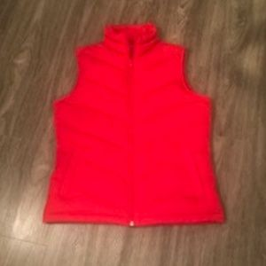 Lands' End Red Down/Puffer Vest Size Small